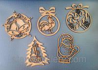 Новорічні прикраси з дерева 🎄 креативні новорічні іграшки