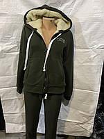 Зимний женский костюм трикотаж на искусственном меху норма оптом в Одессе (7км).