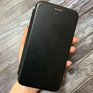 Чехол книга для Meizu M6 Note с эко кожи с подставкой магнитом книжка на телефон мейзу м6 нот черная STN