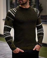 Чоловічий светр Норв хакі, фото 1