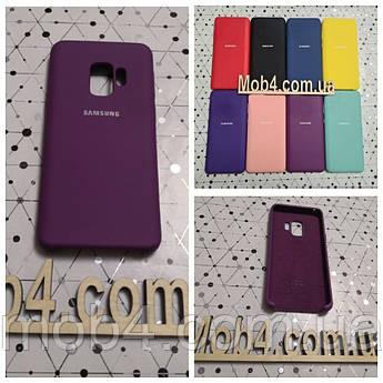 Брендовый чехол накладка Silicone Cover для Samsung Galaxy (Самсунг) S9