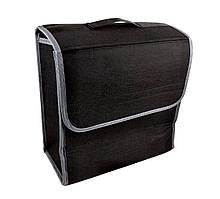 Органайзер автомобільний з липучками для кріплення (ОД-123) 30*29*16 см, Чорний