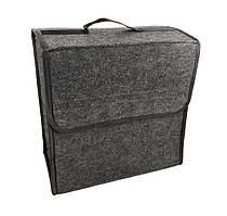 Органайзер автомобильный с липучками для крепления (ОД-123) 30*29*16 см, Серый