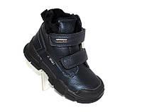 Осенние ботинки черные на липучках для мальчиков
