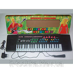 Музыкальный орган bt-3738 Бременские музыканты сеть,микрофон 65*6*19 на русском языке