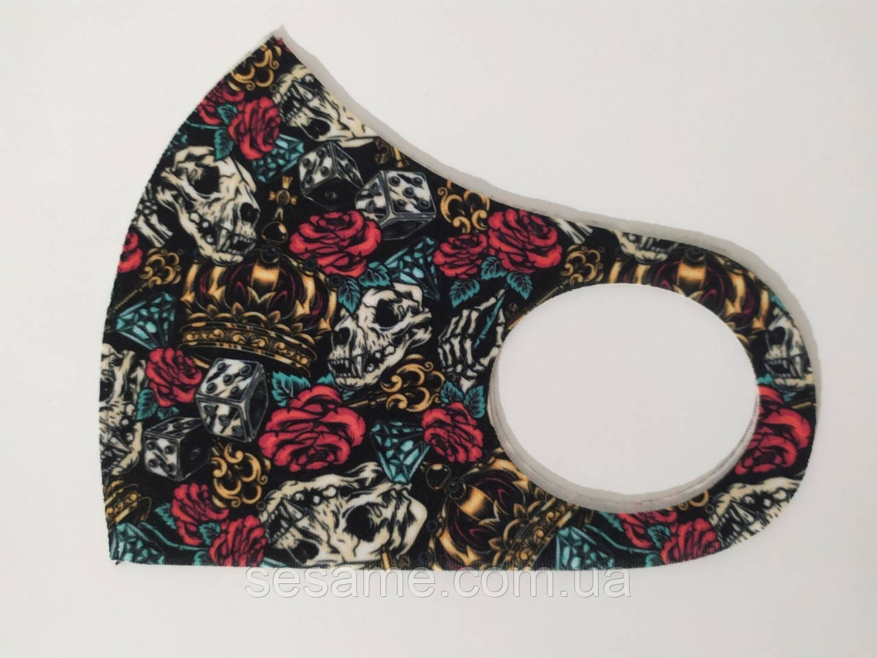 Защитная Маска Питта принт Instagram  многоразовая маска