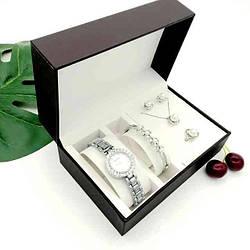 Часы подарочные в наборе DIOR silver