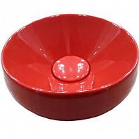 Умывальник Newarc Elipso 505050R, красный