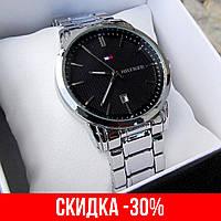 Мужские серебряные наручные часы Tommy Hilfiger / Томми Хилфигер