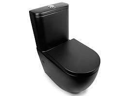 Унитаз-компакт Rimless Newarc Modern 3822B-M, черный матовый