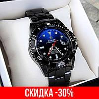 Мужские черные наручные часы Rolex Submariner / Ролекс