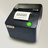 Принтер чеків Xprinter XP-С58Е USB+LAN, фото 3