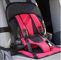 Автокресло мягкое детское безкаркасное Multi-function Car Cushion NY-26 от 9 мес до 4 лет КРАСНЫЙ, фото 3