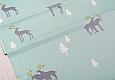 Сатин (хлопковая ткань)  на мятном северные олени (40*160), фото 2