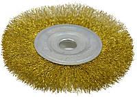 Щетка дисковая 115х16мм латунная рифленая проволока SPITCE
