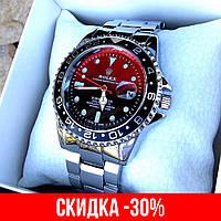 Мужские серебряные наручные часы Rolex Submariner / Ролекс