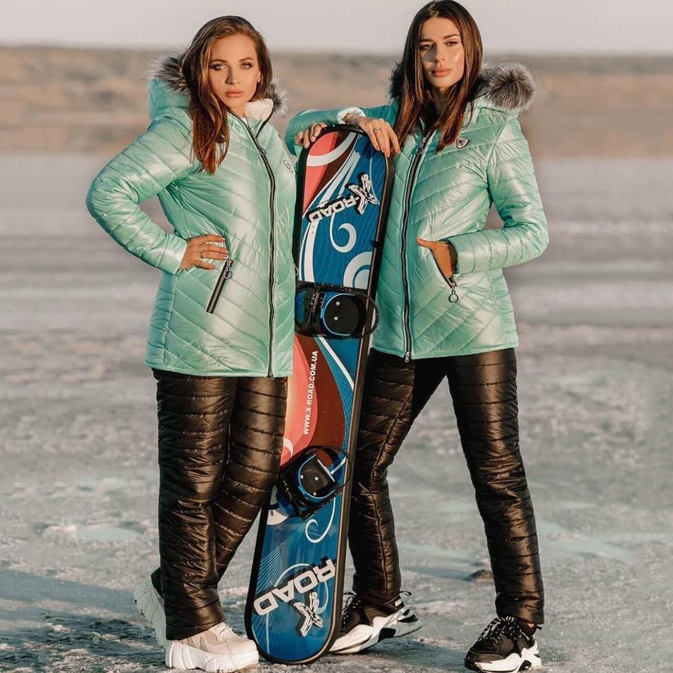 Лыжный стёганый костюм женский