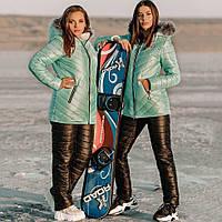 Лыжный стёганый костюм женский, фото 1