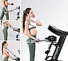 Електрична бігова доріжка HRS T400MS + гантелі і пояс-масажер, для дому, фото 6