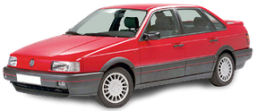 Дефлектор на капот (Мухобойки) для Volkswagen (Фольксваген) Passat B3 1988-1993