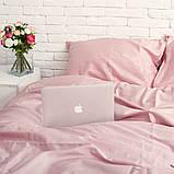 Комплект постельного белья из сатина Турция, постельное белье 100% хлопок розовый жемчуг Семейный, фото 2