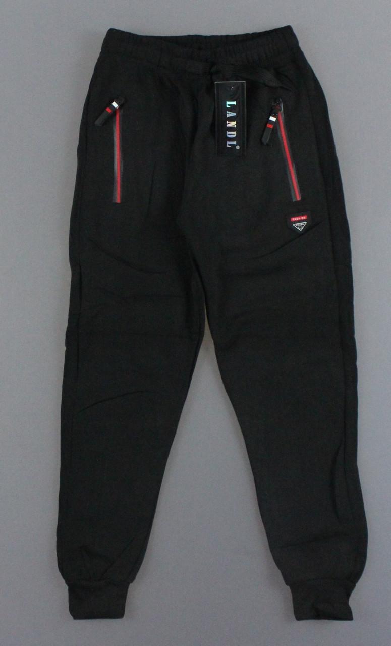 {есть:134,140} Спортивные брюки с начесом для мальчиков Landl,  Артикул: LP8903-чёрный [134]