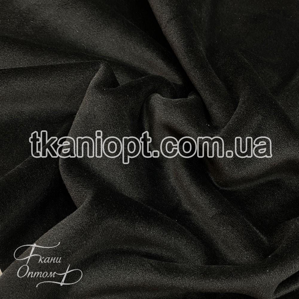 Ткань Бархат на дайвинге (черный)