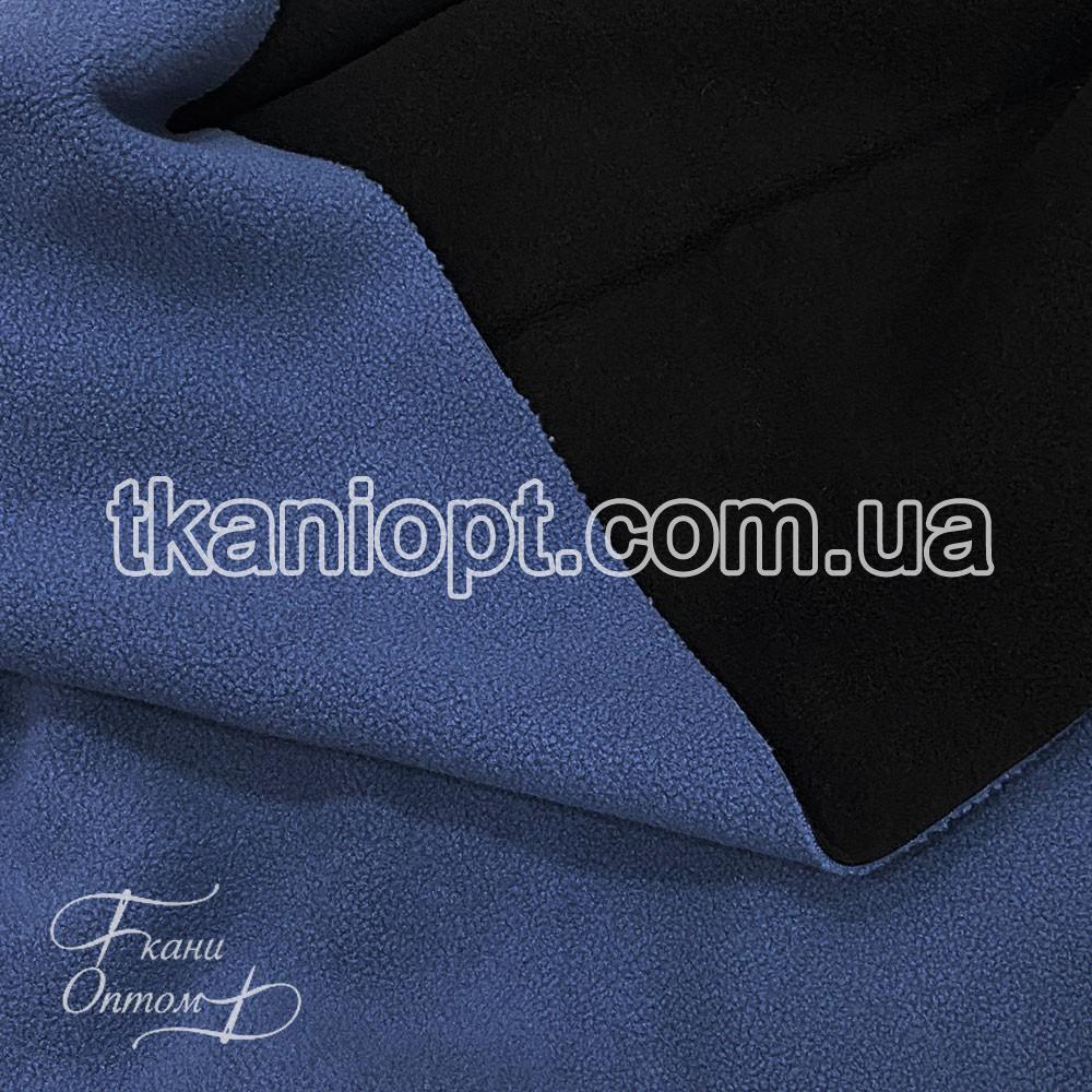 Ткань Микрофлис полар двухсторонний (джинс-черный)