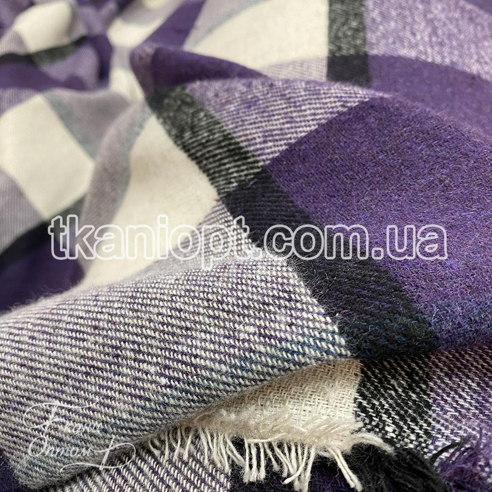 Ткань Байка в клетку (фиолет)