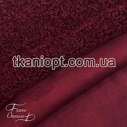 Ткань Дубляж каракуль (бордовый)