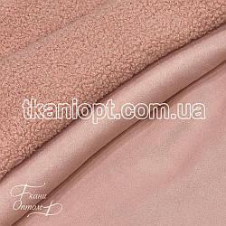 Ткань Дубляж на меху (персик)