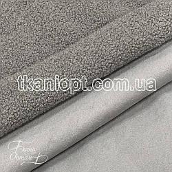 Ткань Дубляж на меху (серый)
