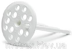 "Дюбель фасадный тарельчатый для теплоизоляции ""Обрій"" 10х120 мм. белый, 100 шт."