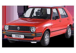 Дефлектор на капот (Мухобойки) для Volkswagen (Фольксваген) Golf 2 1983-1992
