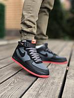 Мужские кроссовки Nike Air Force High Black, фото 1