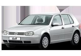 Дефлектор на капот (Мухобойки) для Volkswagen (Фольксваген) Golf 4 1997-2003