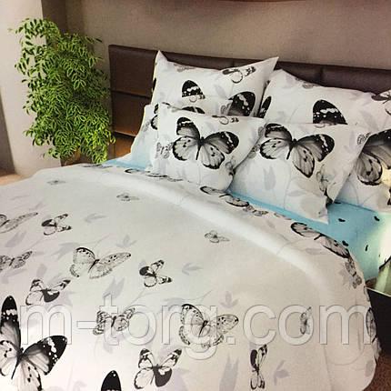 """""""бабочки"""" комплект постельного белья полуторный 150/210 см, нав-ки 70/70, ткань сатин, 100% состоит из хлопка, фото 2"""