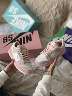 Женские кроссовки Nike SB розовые, фото 1