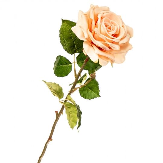 Роза искусственная длинная 74 см персиковая