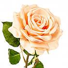 Роза искусственная длинная 74 см персиковая, фото 2