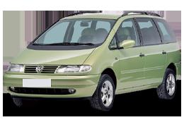 Дефлектор на капот (Мухобойки) для Volkswagen (Фольксваген) Sharan I (7M) 1995-2009