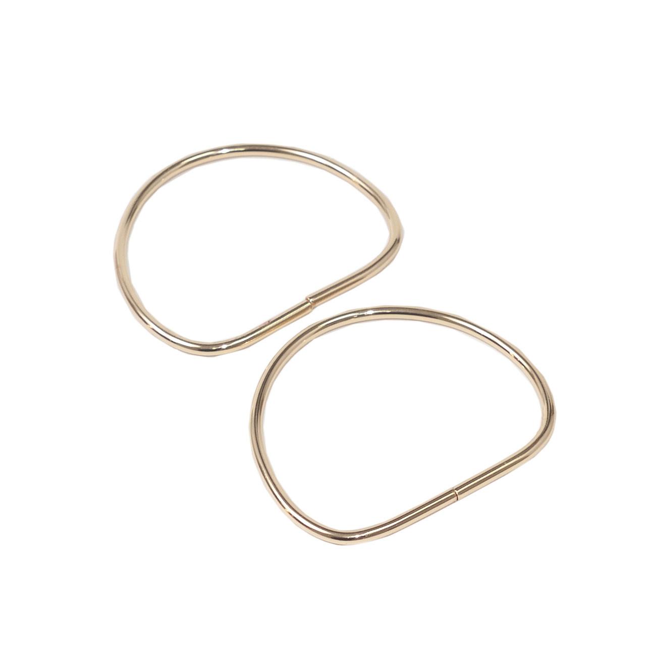 Комплект металлических ручек-полуколец колец для сумки 10х9 см Золото