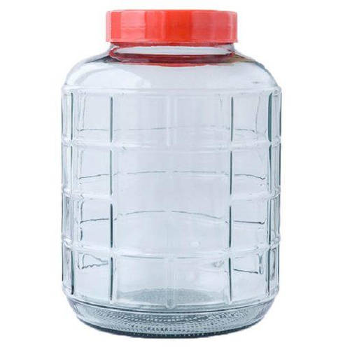 Бутыль стеклянная для вина с широким горлом + гидрозатвор, 24.5л