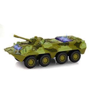 Военная машина 6409D (96шт) жел, инер-я, БТР,1:54,звук,свет,на бат-ке(табл),в кор-ке,17-7,5-7см