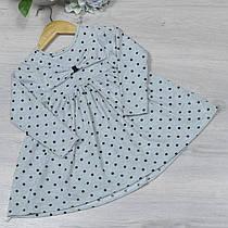 """Сукня трикотажне """"горошок"""" , розмір 3-8 років (5 од. уп. ), М'ята"""