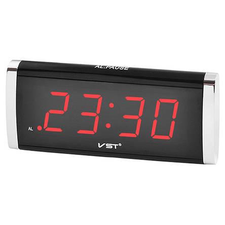 Часы сетевые VST 730-1 красные, фото 2