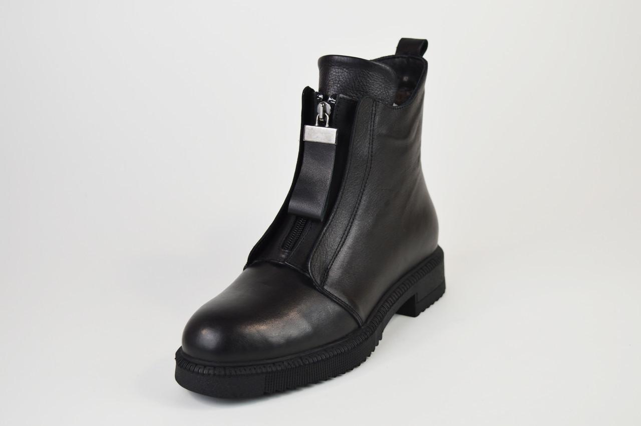 Ботинки кожаные Evromoda 148292 черные