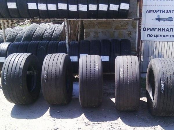 Шины б.у. 435.50.r19.5 Dunlop SP252 Данлоп. Резина бу для грузовиков и автобусов
