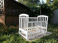 Кроватка Laska-M Лама маятник (белая), фото 1
