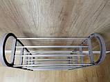 Полка для обуви 82 x 50 x 19 см коричневая, фото 4